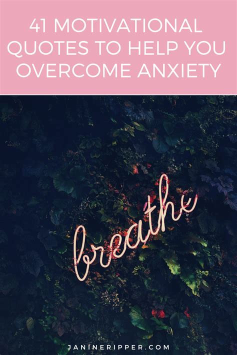 Inspirational Quotes To Overcome Anxiety