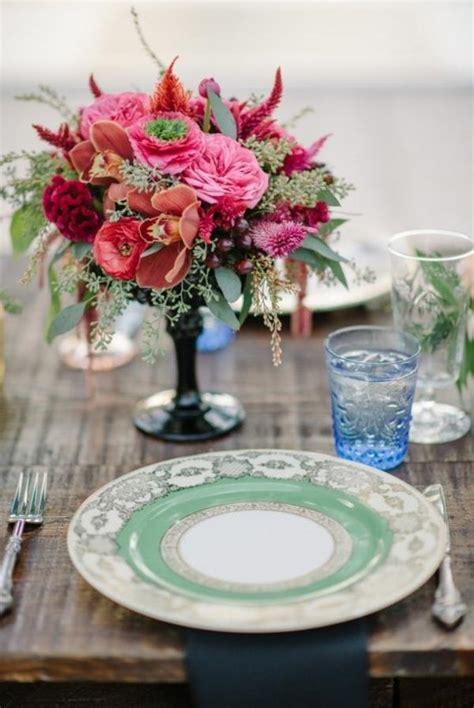 Blumen Hochzeitsdeko by Vintage Tischdeko Zur Hochzeit 100 Faszinierende Ideen