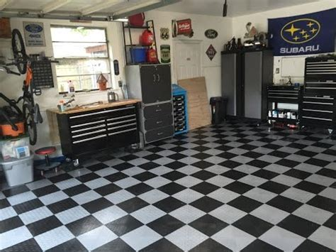 Garage Flooring   Grid Lock Tiles Installation   Doovi