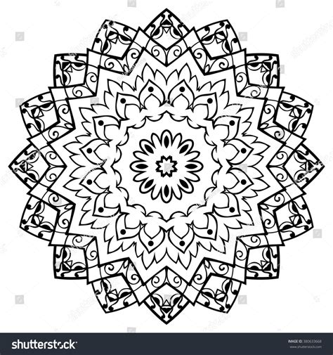 simple tattoo backgrounds simple vector mandala on white background stock vector