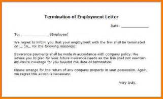 Letter Of Termination Of Employment Contract 8 Letter Of Termination Of Employment Card Authorization 2017