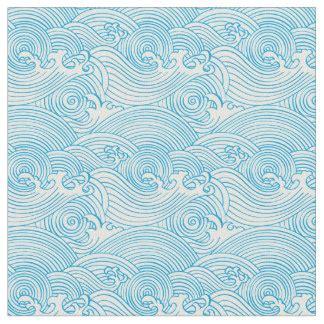 japanese ocean pattern japanese wave fabric zazzle