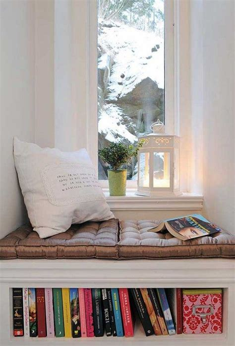 bookcase window seat country home