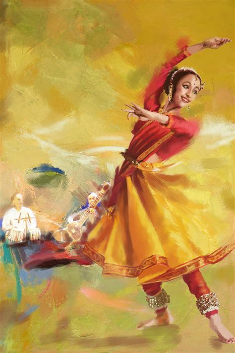 Home Decor Wallpaper Online India by Kathak Dance Painting By Catf