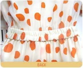626 Casual Look Dot Dress Import casual dresses sale orange polka dot dress
