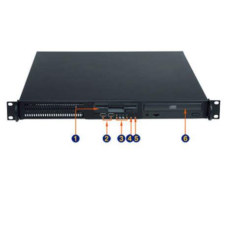 1u 23 6 quot depth industrial rack mount computer rms6104