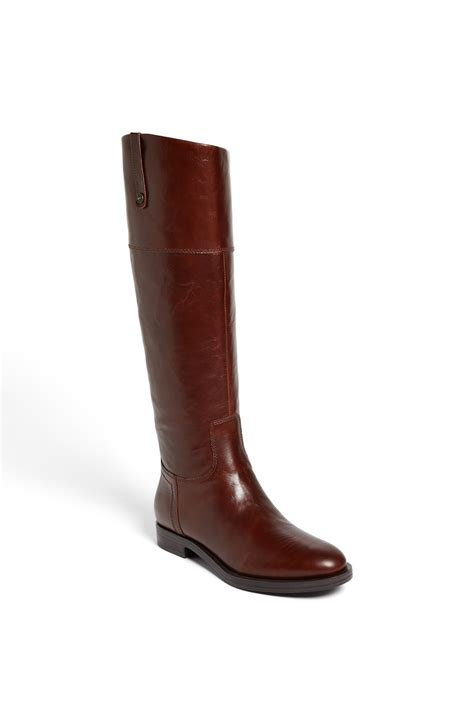 enzo boots enzo angiolini ellerby boot in brown walnut brown lyst
