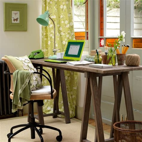 green home office home office decorating ideas desks