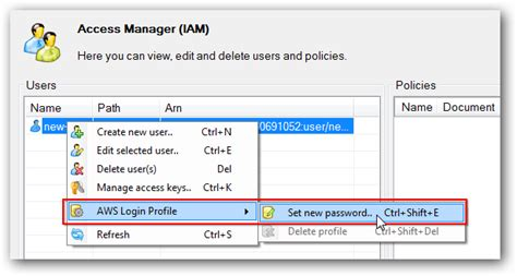 aws console login how to create username and password for aws management