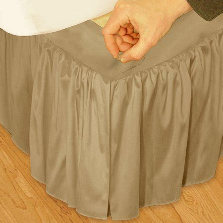 ruffled 3pc adjustable bed skirt walmart