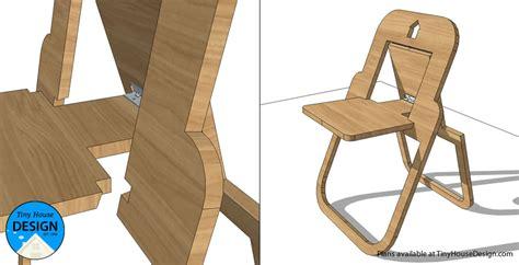 flat folding chair tiny house design