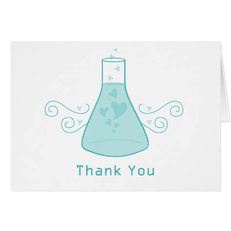 Thank You Letter To Chemistry Aqua Sweet Chemistry Thank You Card Zazzle