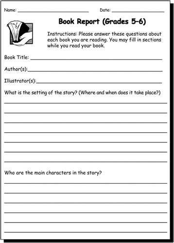 types of book reports directions for types of book reports
