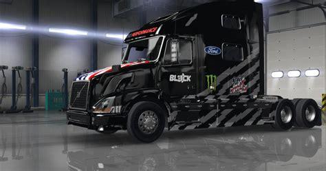 hoonigan truck hoonigan bars livery skin for volvo vnl 780 truck