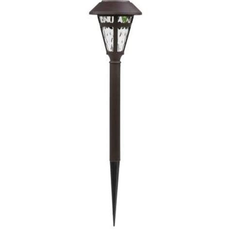 home depot hton bay solar lights bronze solar led cage pathway light set 6 pack nxt 1903p