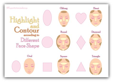 how to draw contour diagrams highlight and contour lynette makeup