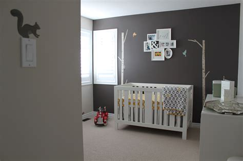 Gray Bedrooms Ideas modern grey amp yellow nursey for baby boy to come project