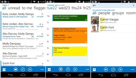 microsoft launches outlook web app pre release for android - Outlook 365 Android