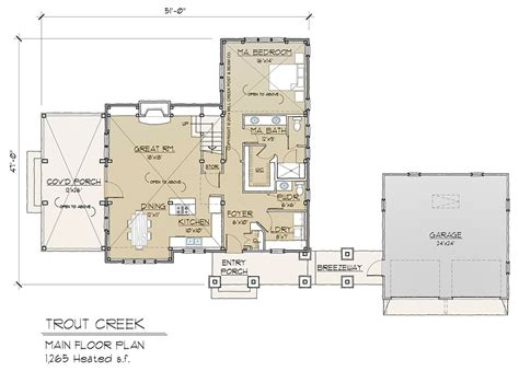 timberframe floor plans trout creek timber frame floor plan by mill creek