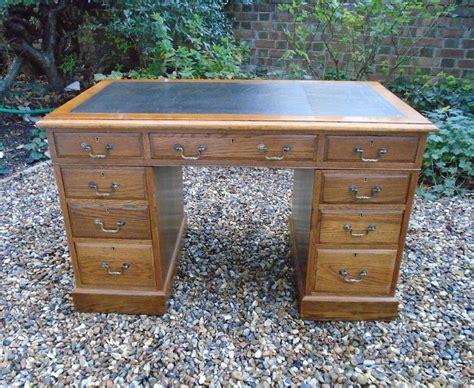 4 foot desk edwardian oak pedestal desk 4 foot wide 390673