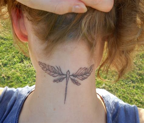 tattoo feather wings my dragonfly feather wings tattoo tattoos pinterest