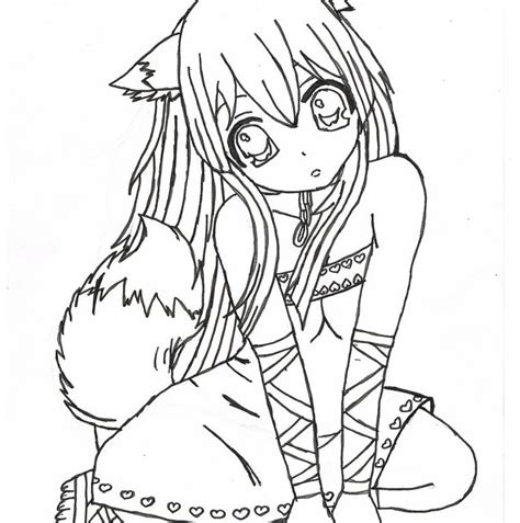 anime girl coloring nice stunning coloring pages cute anime vire girl coloring pages many interesting cliparts