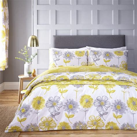 Catherine Set catherine lansfield banbury floral duvet set yellow
