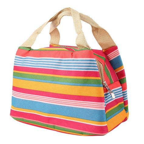 lunch tote chic lunch bag containers cooler box preservation portable tote storage canvas