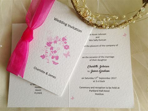 pink butterfly wedding invitations pink butterfly wedding invitations wedding stationery