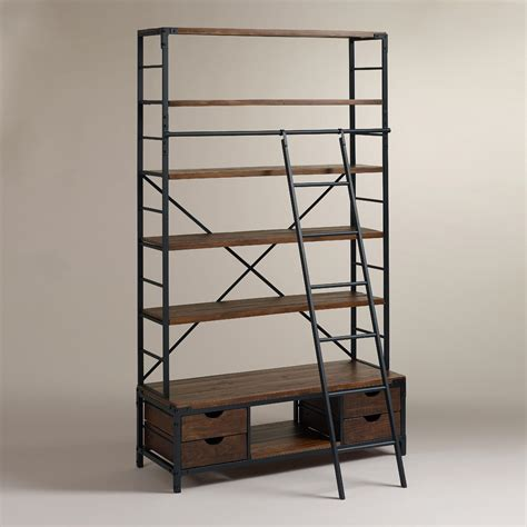 Ballard Designs Shelves metal bookcase and ladder world market