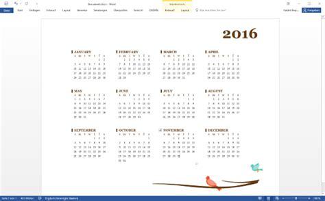Word Vorlage Kalender 2016 Kalender 2016 Vorlage F 252 R Word Excel Und Powerpoint