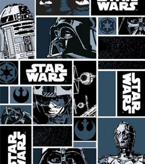 wars characters in blocks cotton fabric available in