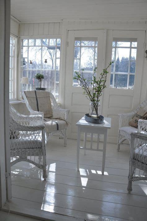 white wicker sunroom beach cottage coastal living