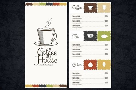 design coffee shop menu layout 30 best food drink menu templates design shack