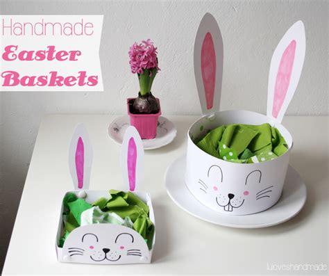 luloveshandmade handmade bunny easter baskets
