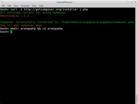 tutorial php composer arangodb tutorial php in 10 minutes