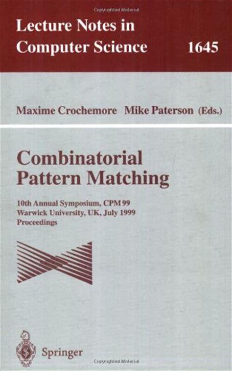 pattern matching library warwick university library catalogue warwick university