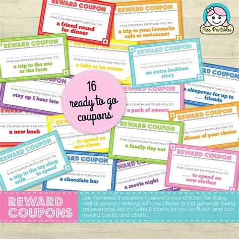 printable coupons uk free 11 best images about reward coupons for kids on pinterest