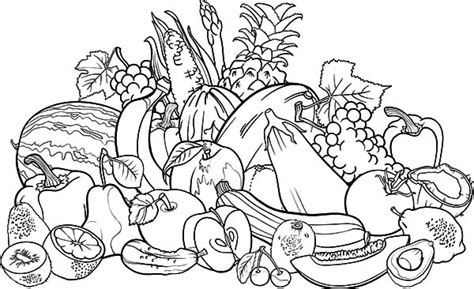 Coloring Page Vegetables And Fruit by Free Worksheets 187 Printable Fruits And Vegetables Free