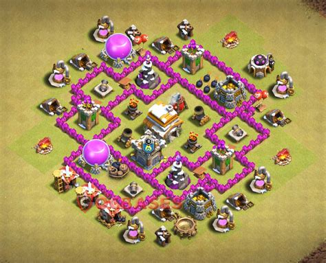 th6 war base layout search results for best defense th 6 base