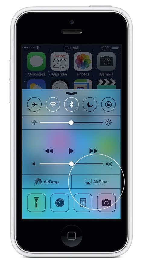 where is airplay on iphone 5 ios use airplay mirroring apple support