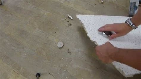 ceiling tile hole cutting tricks youtube