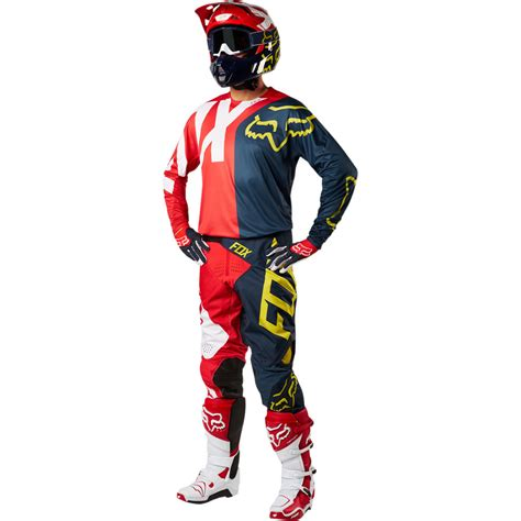 fox motocross kits 2018 fox racing 360 preme gear kit navy red sixstar racing