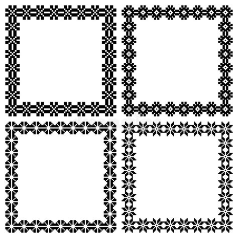 what is melissa marcos ethnic background four square ethnic geometric frames for your design text