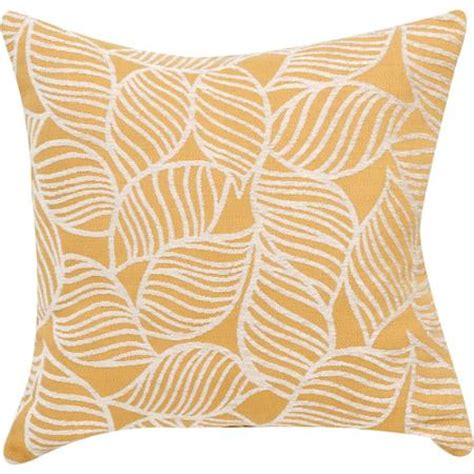 Yellow Throw Pillows Walmart by Better Homes And Gardens Yellow Leaves Decorative Pillow