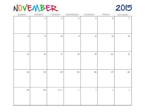 printable planner november 2015 november 2015 calendar page