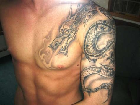 dragon sleeve tattoo black and grey images black and grey dragon tattoo