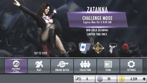 injustice challenge characters injustice mobile zatanna challenge injustice gods