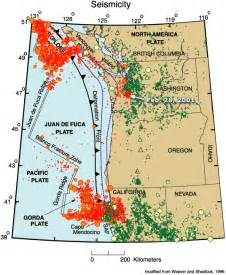 oregon fault lines map coastal oregon fault map cascadia fold fault zone map