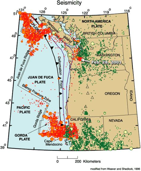 map of oregon earthquake zones coastal oregon fault map cascadia fold fault zone map